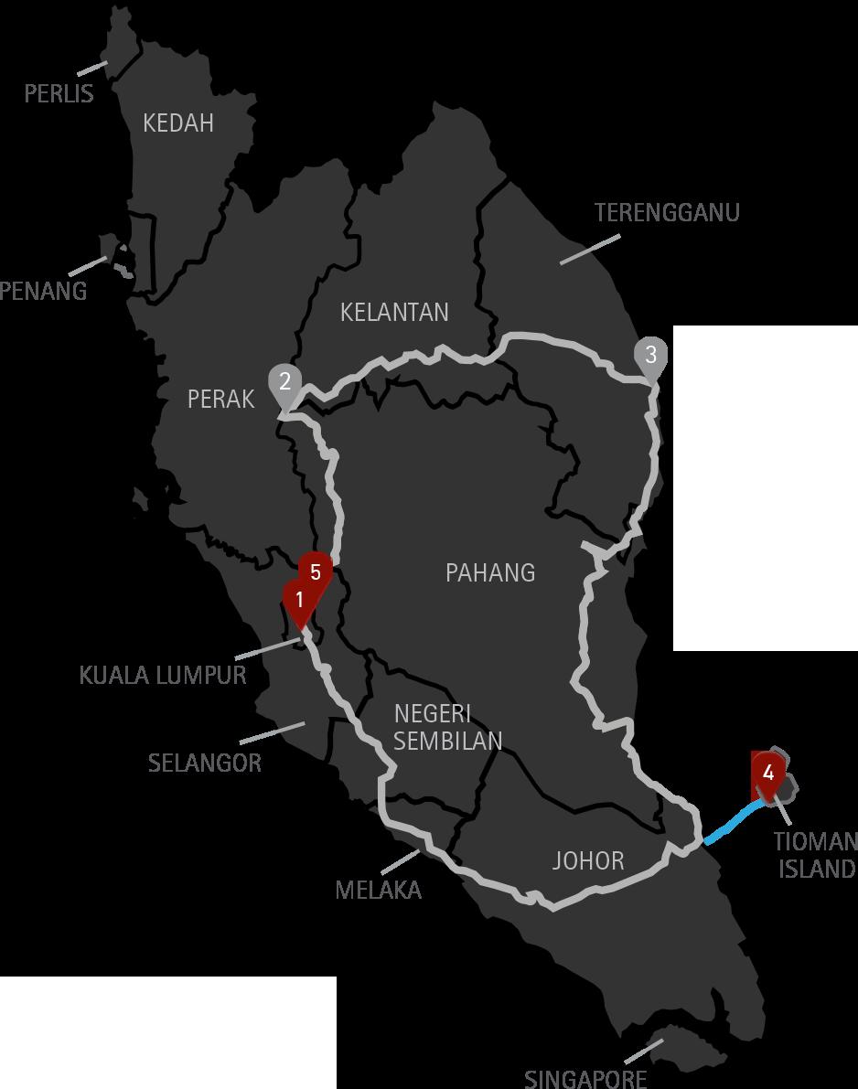 7 Days Tour East Coast Malaysia